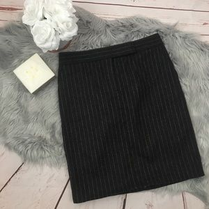 J. Crew Gray Pinstripe Wool Pencil Skirt NWT